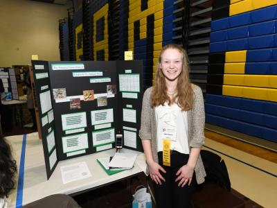 Sydney Roberts with her project